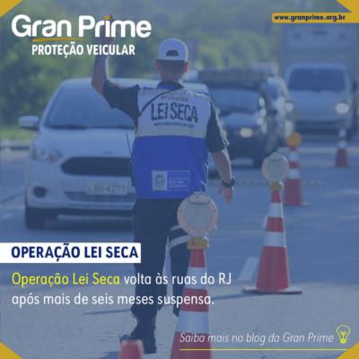 Operação Lei Seca está de volta às ruas do RJ