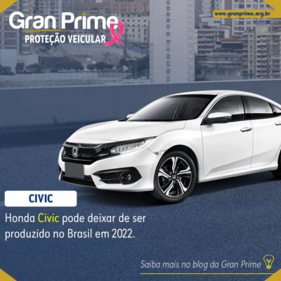 Honda Civic pode deixar de ser produzido no Brasil em 2022